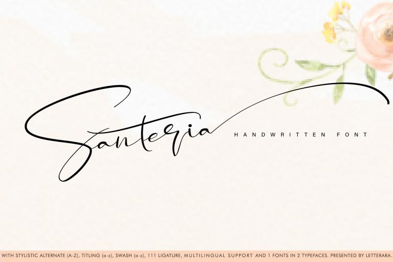 Santeria Calligraphy Font