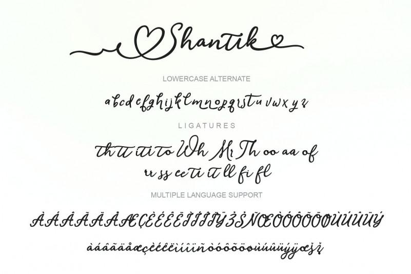 Shantik Script Font-2