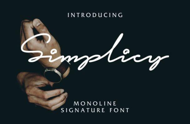 Simplicy Signature Font