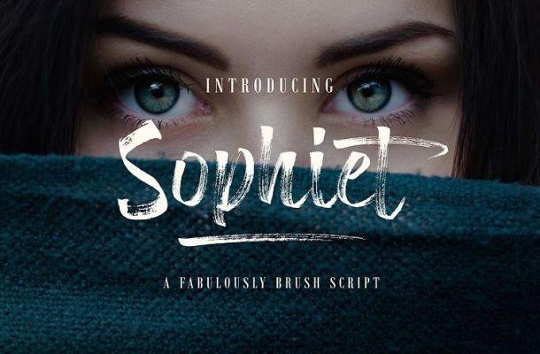 Sophiet Brush Font