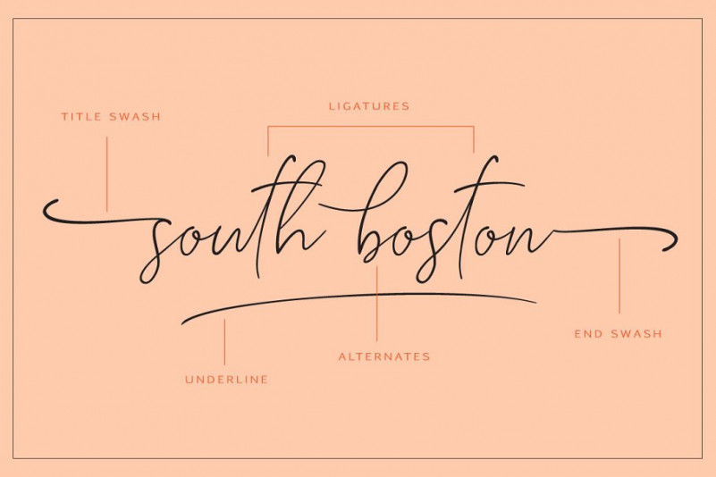 South Boston Script Font-2