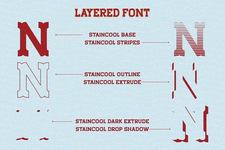 Staincool Layered Font-2