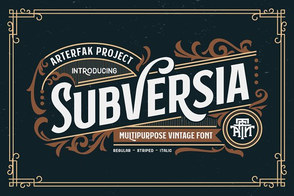 Subversia Typeface