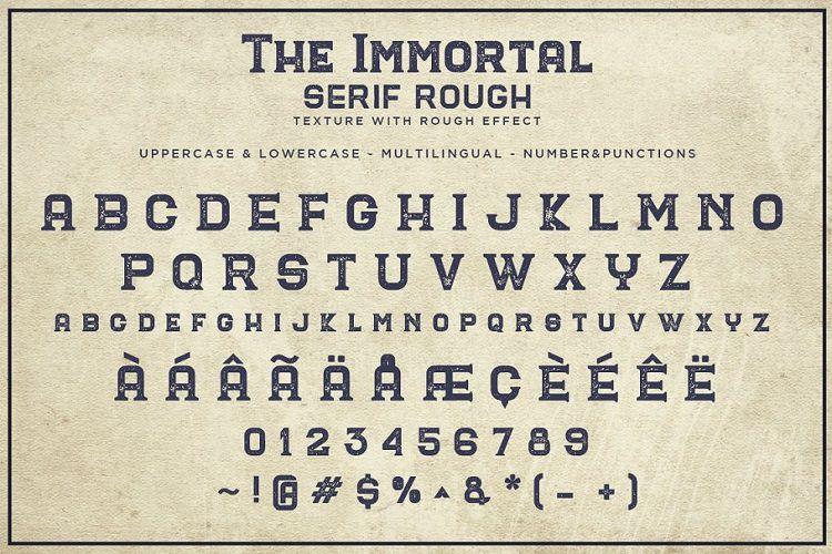 The Immortal Vintage Font-2