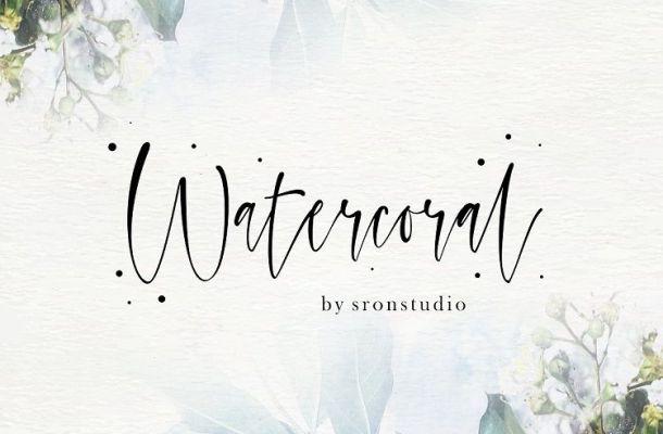 Watercoral Natural Script Font