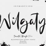 Wilgaty Brush Font
