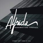 Alfrida Handwritten Font