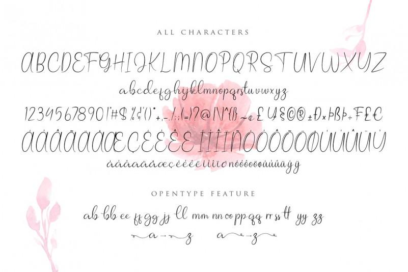 Allagia Script Font-3