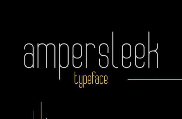AmperSleek Typeface