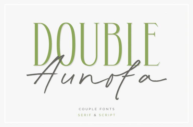 Aunofa Serif Font