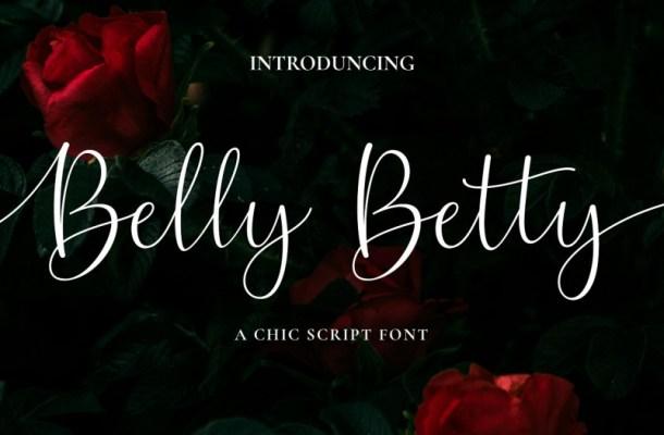 Belly Betty Script Font