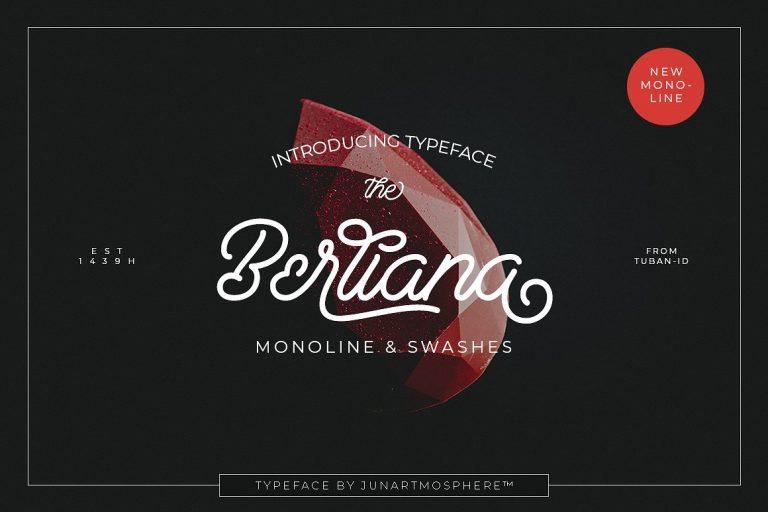 Berliana Monoline Script Font