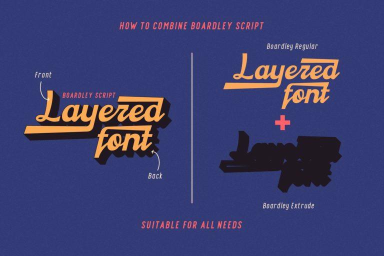 Boardley Script Font-2