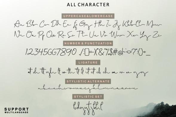 Brigham Signature Font-3
