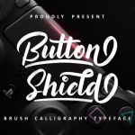 Button Shield Brush Font