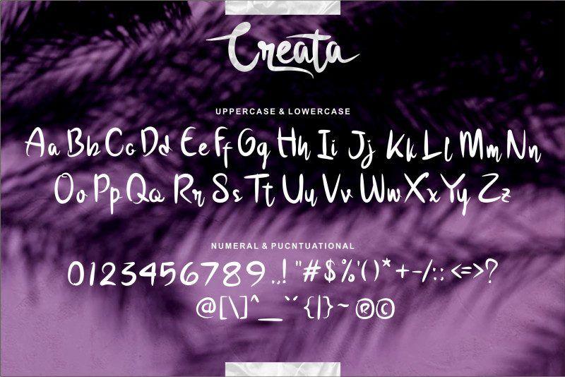 Creata Script Font-3
