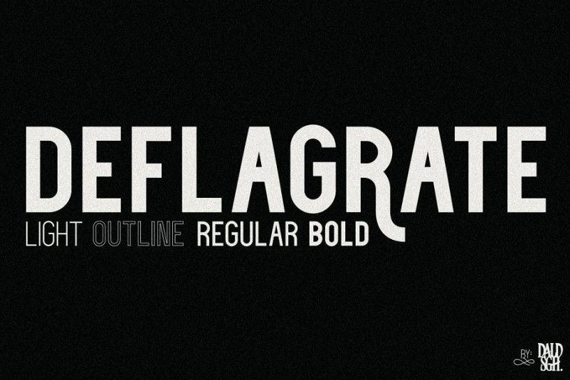 Deflagrate Font Family