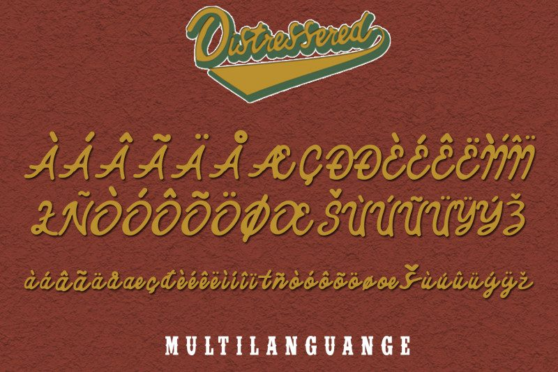 Distressered Vintage Font-3