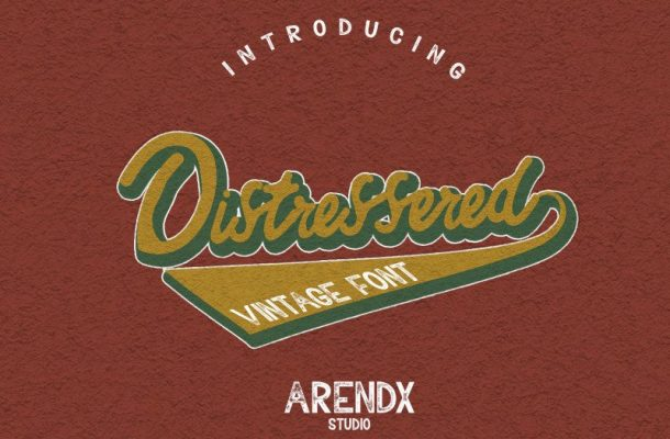 Distressered Vintage Font