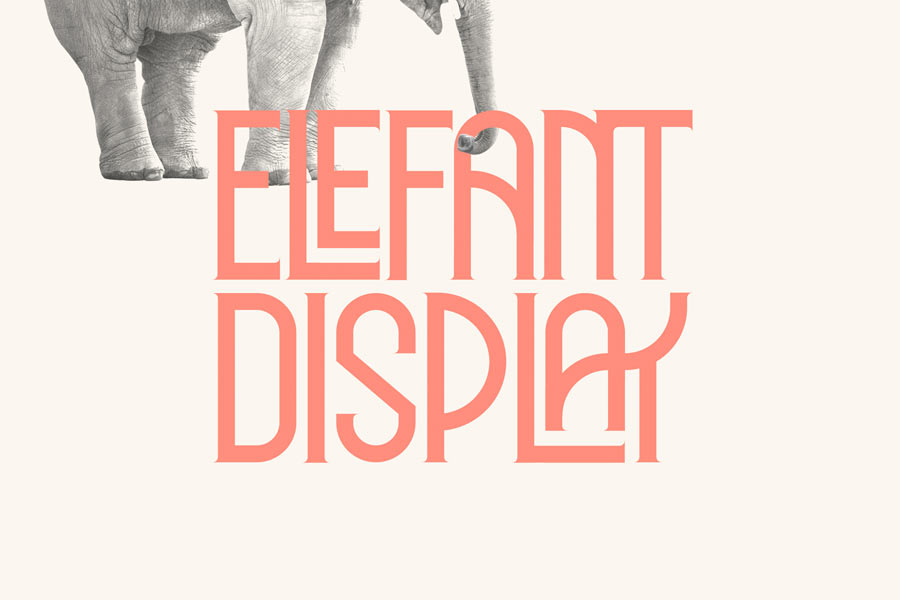 Elephant Display Font