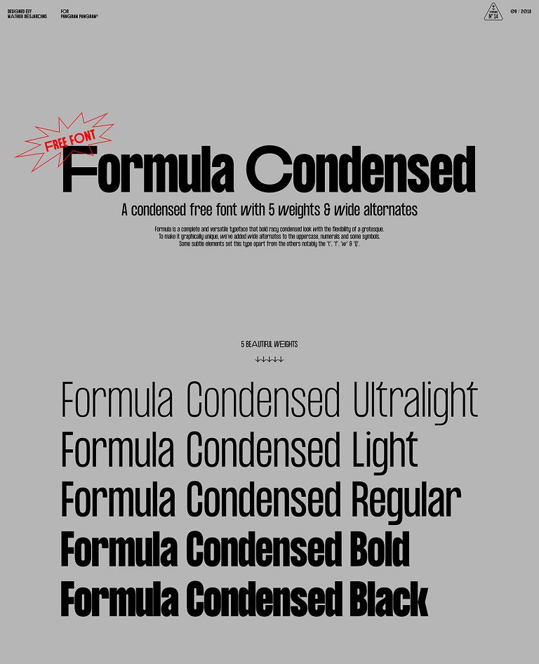 Formula Consensed Font Family-2
