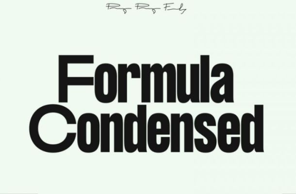 Formula Consensed Font Family