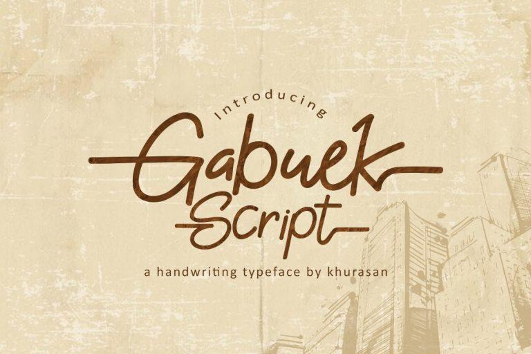 Gabuek Script Font