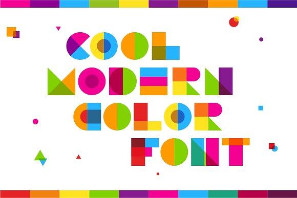 Garis Lengkung Colorful Font-2