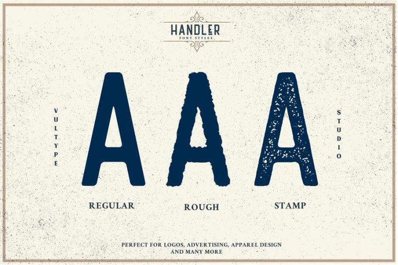 Handler Vintage Font-3