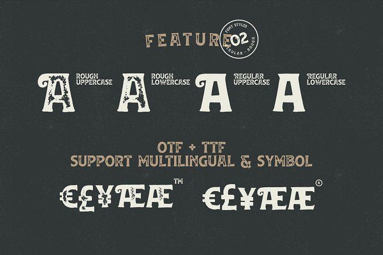Huvet Vintage Font-3