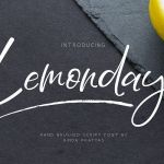 Lemonday Script Font