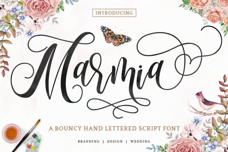 Marmia Calligraphy Font