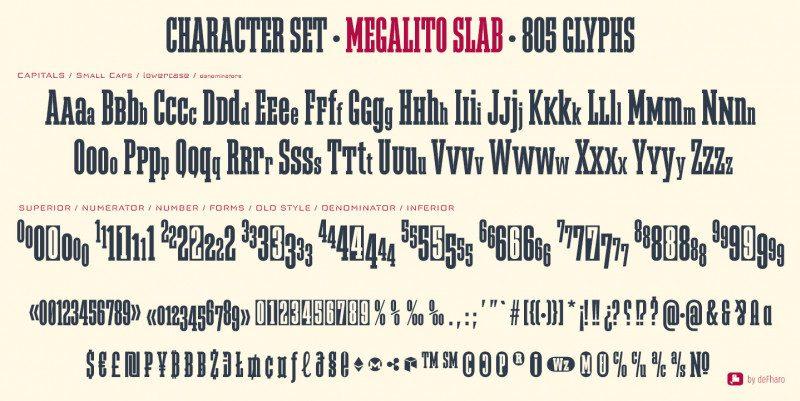 Megalito Slab & Small Caps Font-2