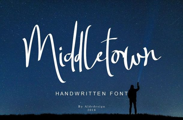 Middletown Brush Font