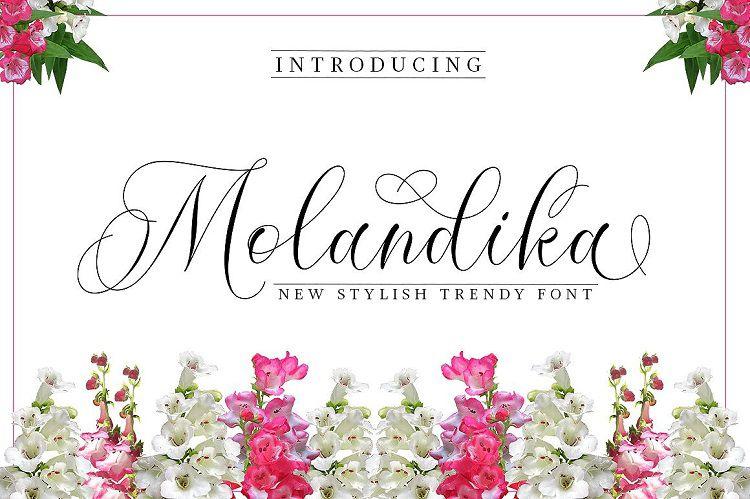 Molandika Calligraphy Font