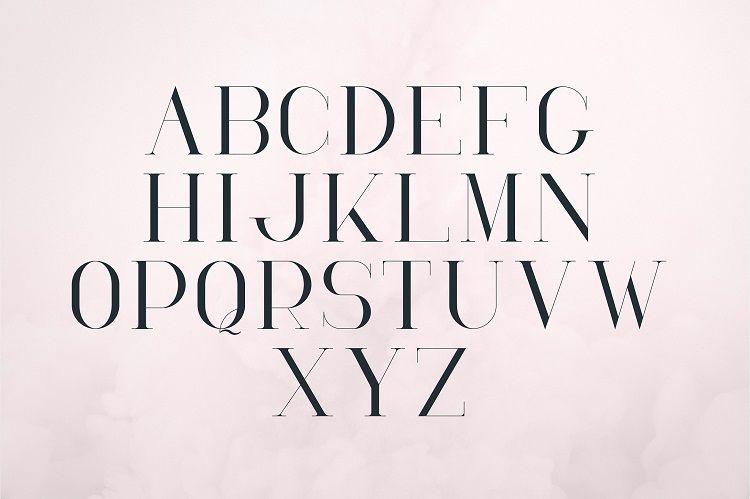 RoseGold Serif Font-3