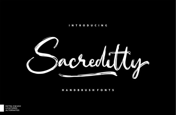 Sacreditty Handbrush Font