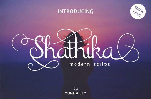 Shathika Script Font