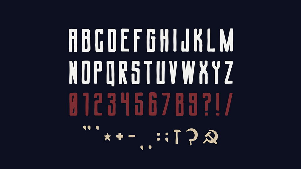 Soviet League Typeface-2