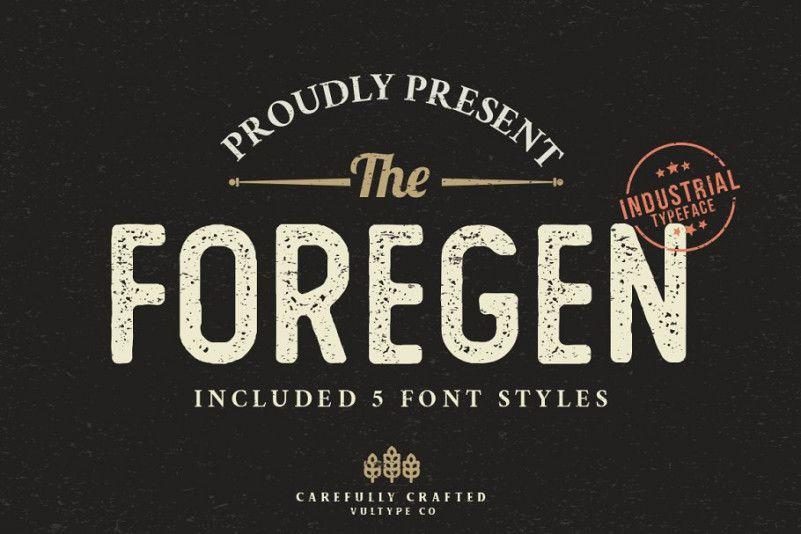 The Foregen Vintage Font