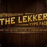 The Lekker Vintage Font