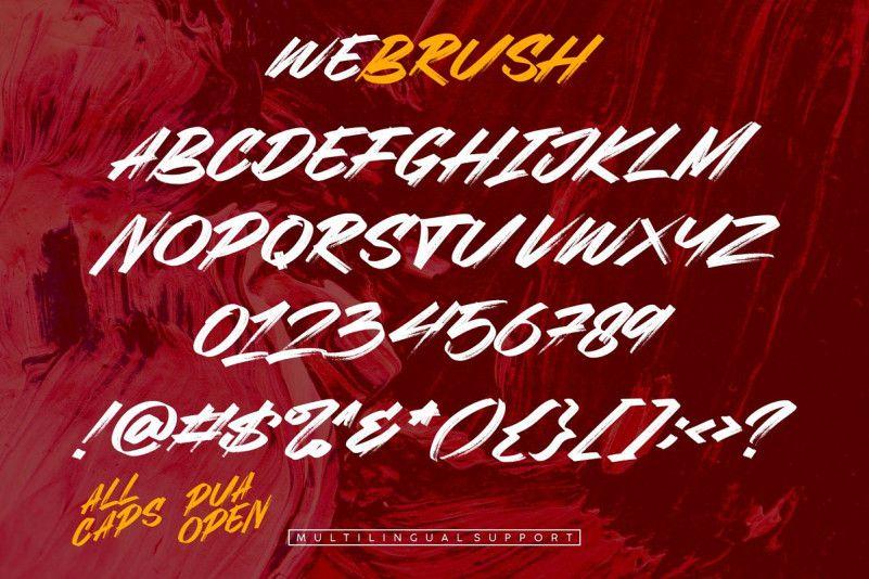 Webrush Brush Font-3