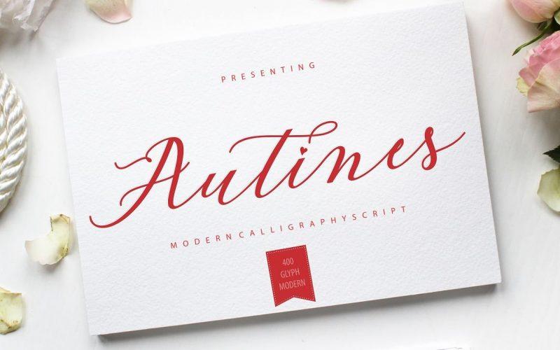 Autines Calligraphy Font