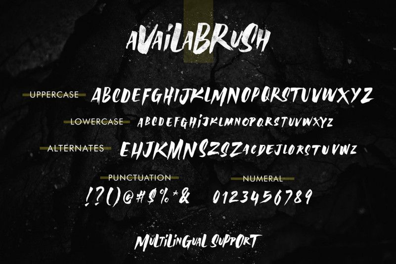 Availa Brush Font-3