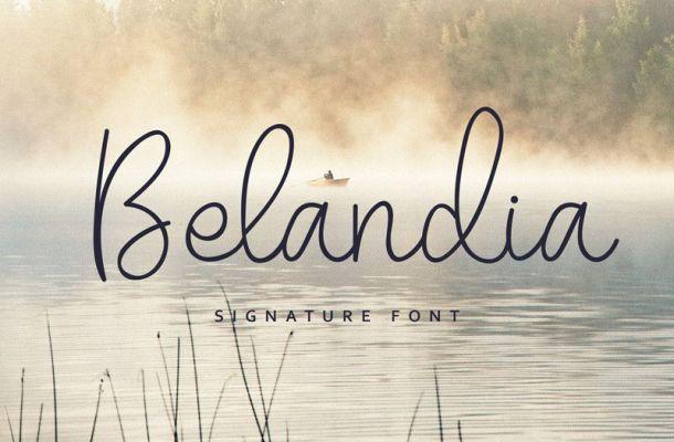 Belandia Handwritten Font