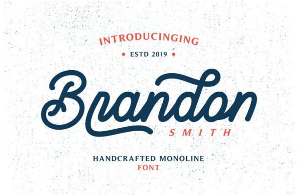Brandon Smith Monoline Font