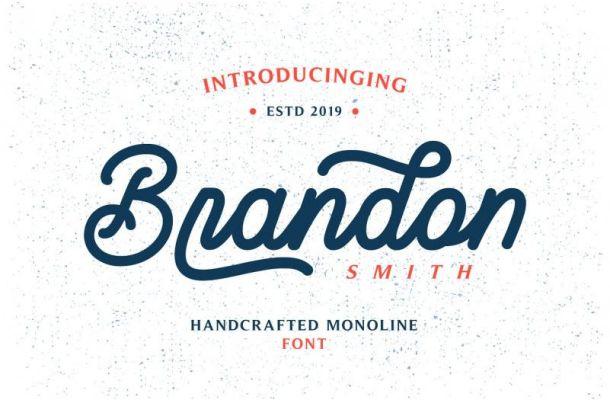 Brandon Smith Monoline Font