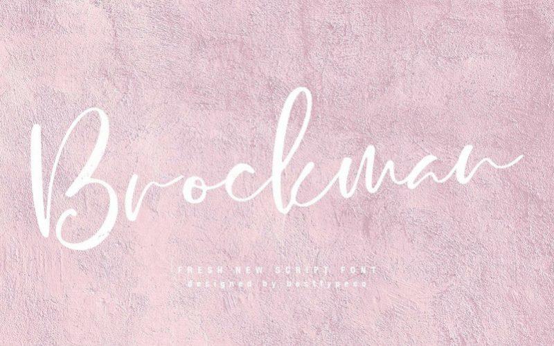 Brockman Calligraphy Font
