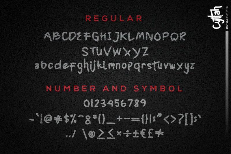 Cyttah Graffiti Font-3