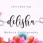 Delisha Script Font